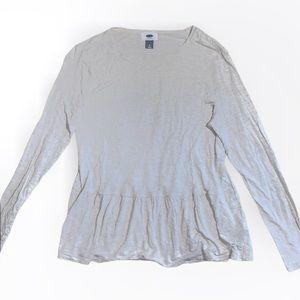 3/$30 Old navy nude peplum style blouse